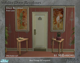Sims 2 — Solidity Door Recolours - Park Lane by MsBarrows — A recolour of the Solidity hotel room door from Bon Voyage,