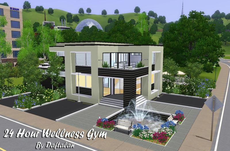 Alan is 39 24 hour wellness gym for Sims 3 houses plans