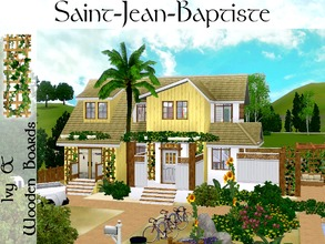 Sims 3 — Saint-Jean-Baptiste by lilliebou — Hi ! This is a small set of two items : -One house (3 floors, 3 bathrooms, 4