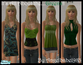 "Sims 2 — It\'s All About the....Greens! by Angelbabe1983 — Here is my next Set in my ""It\'s All About\"""