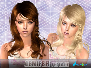 Sims 2 — NewSea SIMS2 Hair YU083f Jenifer by newsea — A long stylish hair in various colors.
