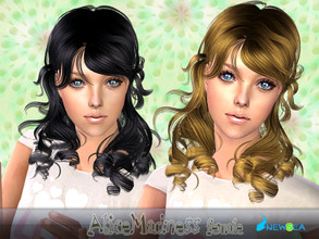 Sims 2 — NewSea SIMS2 Hair YU082f AliceMadness by newsea — A stylish curly pigtail hair in various colors.