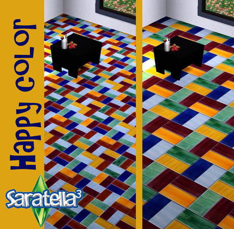 Saratellas Floor Tile Happy Colors