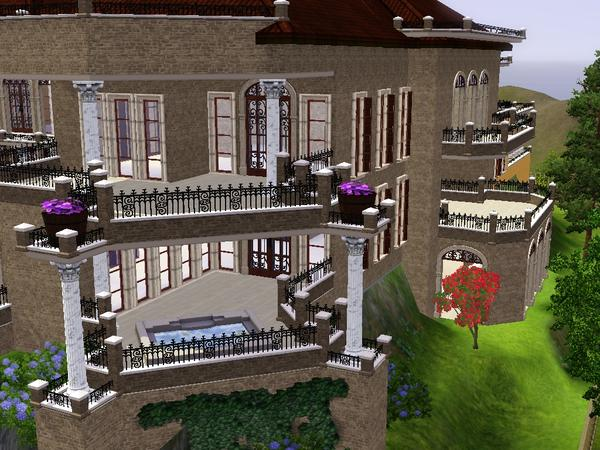 Volvenom 39 s spanish mansion 50x50 080511 for Sims 3 6 bedroom house