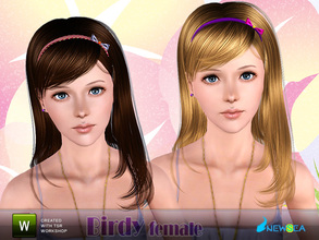 Sims 3 — Newsea Birdy Female Hairstyle by newsea — This hairstyle is for female. Works for all ages except toddler. All
