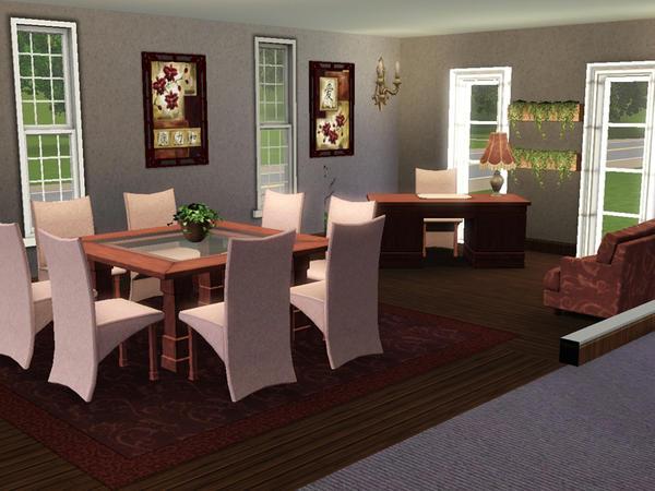 Sims  Living Room Sin Cc