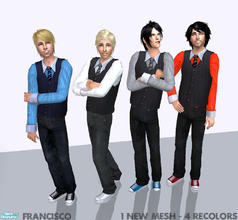 Sims 2 — Formal Guys - Collection 06 for Adult Males by francisssko — 1 New mesh (included) + 4 recolors! Enjoy ;P