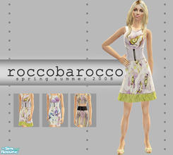 Sims 2 — Rocco Barocco S/S Collection by lemonloveshane — A set of three colorful spring dresses showcased at Rocco