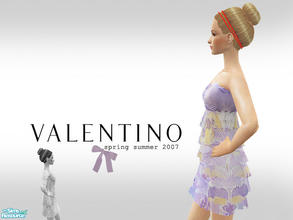 Sims 2 — Valentino Spring Summer 2007 Part 2 by lemonloveshane — A set of four outfits and dresses designed by Valentino