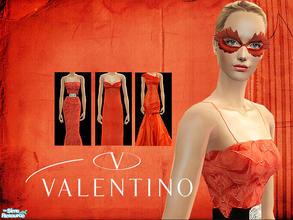 Sims 2 — Valentino RED by lemonloveshane — Valentino is famous for his red dresses, presented at the end of his shows.