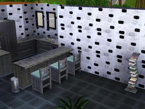 Sims 3 — Black and White by capshunica2 — White and black abstract