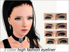 Sims 3 — High Fashion Eyeliner  by steadyaccess — 3 areas are recolorable! This is my first summer work, hope you'll like