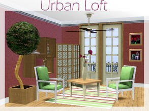 Sims 3 — Urban Loft Set by lilliebou — This set has 10 items for your Sims' living room : -French door (Four recolorable