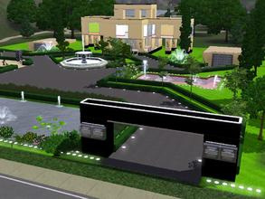 Sims 3 — Luxury by capshunica2 — A house with a big terrain and a beautiful park in the front of the house.Have 2 garages
