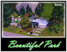 Sims 3 — Beautiful Park by Jindann — Every sim around your town will happy to visit this small park!