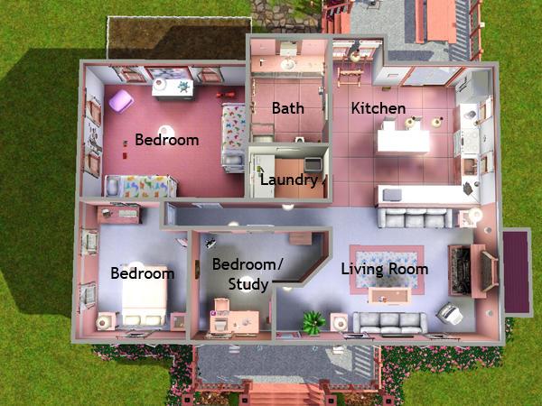 Lizholsimer 39 s 2 pink lane for Sims 3 house blueprints
