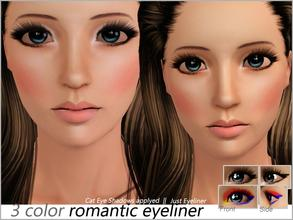 Sims 3 — Romantic Eyeliner by steadyaccess — It works only for females from teen to elder and looks great with my Cat Eye