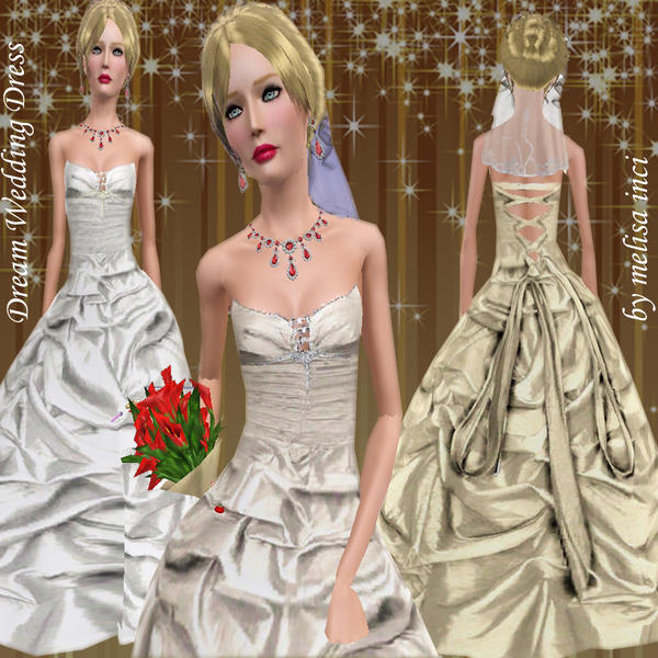 Wedding Altar Sims 3: Melisa Inci's Dream Wedding Dress