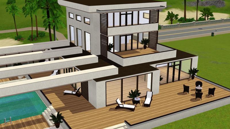 ltoole's modern beach house, sims 3 celebrity beach house (modern design), sims 3 celebrity beach house (modern design) download, sims 3 modern beach house