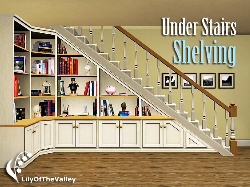 LilyOfTheValleys Under Stairs Shelving
