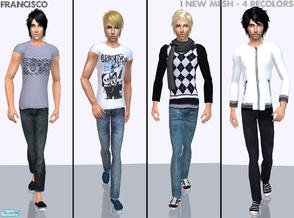 Sims 2 — Summer & Winter  - Collection 05 for Adult Males by francisssko — 1 new mesh (included) + 4 recolors! Enjoy