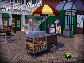 Sims 3 — Hot Dog Stand by estatica — This sturdy Hot Dog Stand has seen many summers, but it still cooks the most