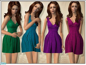 Sims 2 — A Touch of Love Dresses by TSR Archive — A beautiful summer flirty dress in four sparkling colors. Enjoy! ~ Mesh