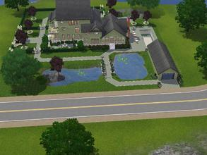 Sims 3 — Goth Manor Rebuild by Mayet514 by mayet514 — This is a remodel of Sunset Valley's Goth Manor. It has 4 bedrooms