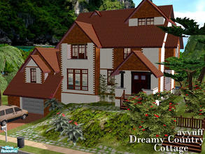 Sims 2 — Dreamy Country Cottage _Furnished_ by ayyuff — 3x3 medium lot with 5bedrooms,3bathrooms..See the Unfurnished