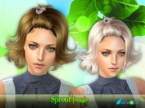 Sims 2 — NewSea SIMS2 Hair J065f Sprout by newsea — A short stylish updo in various colors.