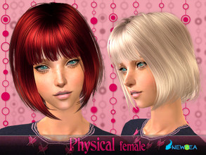 Sims 2 —  NewSea SIMS2 Hair J070f Physical by newsea — A short modern haircut in various colors.