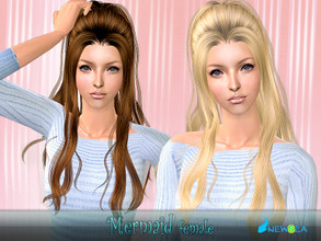 Sims 2 — NewSea SIMS2 Hair YU085f Mermaid by newsea — A long stylish hairstyle in various colors.