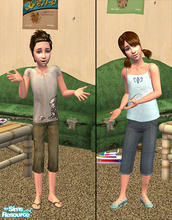 Sims 2 — Raged child clothing by macthekat — Not all kids gets new cloth all the time and some of them likes to clime