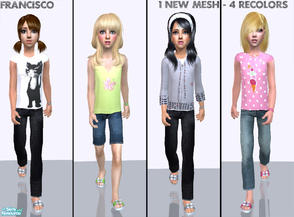 Sims 2 — Child Style Collection 12 by francisssko — 1 New mesh (included) + 4 recolors , Enjoy! ^_^