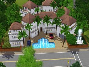 Sims 3 — The Hollywood Dream Villa by -l-iris-l-2 — 2 1/2 bathrooms, 4 bedrooms and 3 levels. This is a house for every