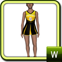 pittsburgh steelers cheerleader outfit.  sc 1 st  The Sims Resource & TigerLiyeneu0027s pittsburgh steelers cheerleader outfit.