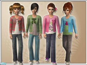 Sims 2 — Sunshine by TSR Archive — A fresh set for children. Tops with vests and jeans with sneakers. Requires mesh by