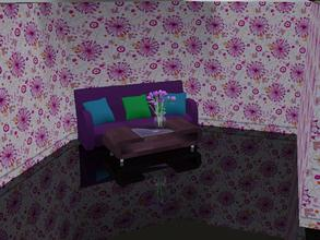 Sims 3 — Pink Floral by capshunica2 — A new pattern for you. I hope you like this!