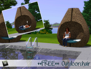 Sims 3 — ** FREE** Outdoor Seat by Angela — Outdoor seat. Made by Angela as a request. (2011) Please do not clone or