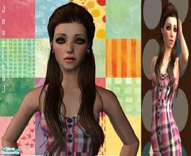 Sims 2 — Jessica Darcy  by XxXMusicisLifeXxX2 — Jessica Darcy is a gorgeous female teen sim. She\'s wearing a very pretty