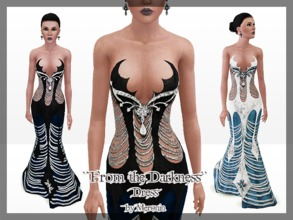 Sims 3 — From the Darkness by Meronin — My design 2 styles 4 recolorable channels