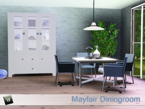 Sims 3 — Mayfair Dining by Angela — Mayfair dining, modern diningroom which contains the following items: Diningchair,