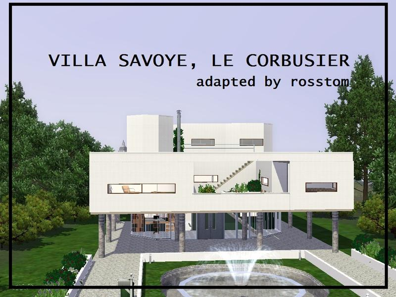 rosstom 39 s villa savoye le corbusier. Black Bedroom Furniture Sets. Home Design Ideas