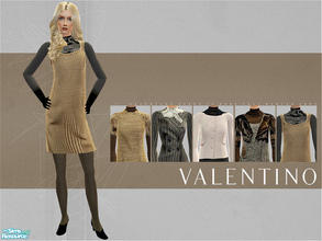 Sims 2 — Valentino Ready to Wear FW 2007-08 by lemonloveshane — A set of five absolutley adorable outfits designed by