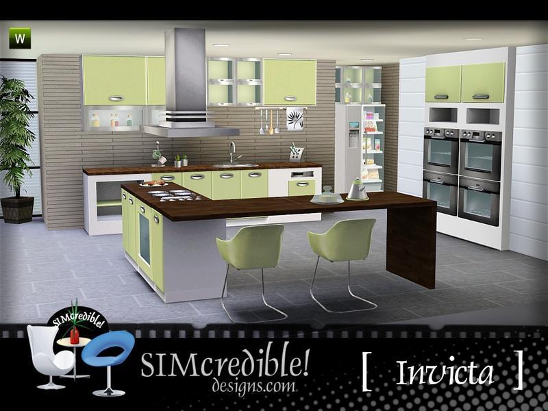 Simcredible 39 s invicta kitchen for Sims 3 kitchen designs
