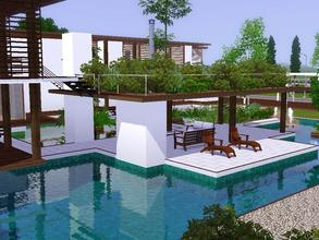 Sims 3 — Sunrise Avenue 126 by sinhhala — A tropical residence, from integration with naure series. Ground floor: