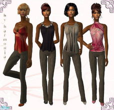 Sims 2 — Sabrina Set - UPDATE! by Harmonia — 4 Different everyday outfit Meshes: