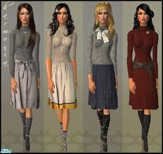 Sims 2 — Heidi Winter Set -UPDATE! by Harmonia — Heidi Winter Set 5 Different everyday outfits for adult & young