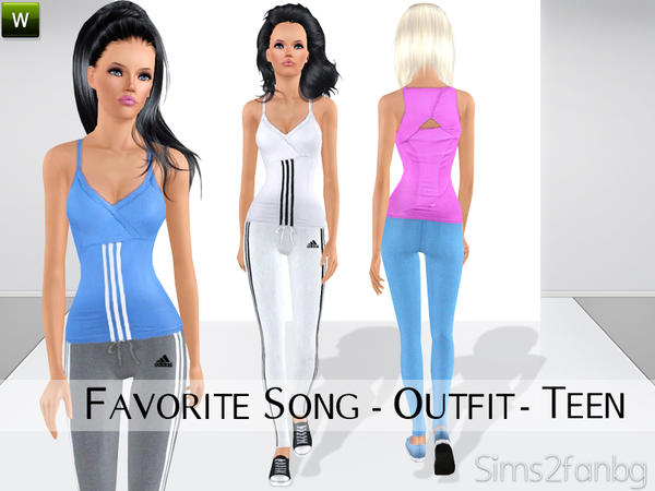 Sims2fanbgu0026#39;s Favorite Song - Outfit for TEEN
