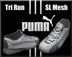 Sims 3 — Puma Tri Run SL Mesh Running Sneakers by terriecason — The Cat's got your back when it's a PUMA! Four